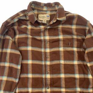 Stormy Kromer Shirt Flannel Long Sleeve Brown